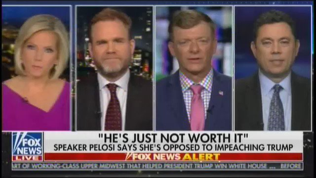 """What took her so long? It's been two years, 300,000 documents, hundreds of hours of interviews, and [Nancy Pelosi] has come to the same conclusion that President Trump said day 1: No collusion. So I'm surprised that it took her that long to get there.""—@marc_lotter"