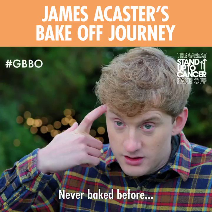 RT @BritishBakeOff: James Acaster does Bake Off. No words. 😂😂😂😂 #GBBO @JamesAcaster https://t.co/Xu6ZdgFTCw