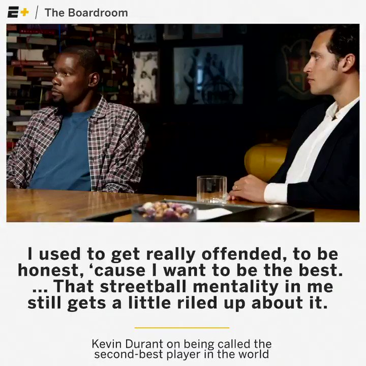 Make no mistake, @KDTrey5 doesn't like being considered the world's second best player. https://t.co/2LzkEuKLRW