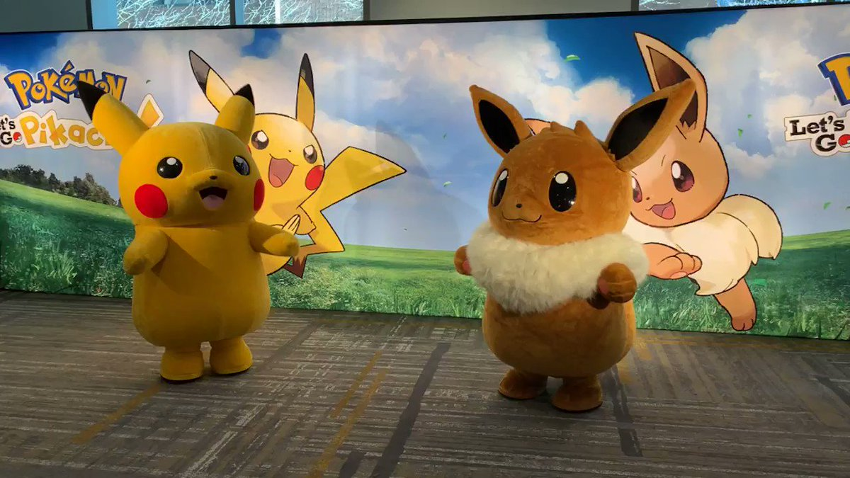 Pikachu and Eevee are back for another day in the Pokémon Play Zone! at the Hyatt Regency nearby #ECCC! Stop by today and see what all the hype is about with #PokemonLetsGo! Don't forget, there are some great in-game surprises for @PokemonGOApp Trainers in attendance.