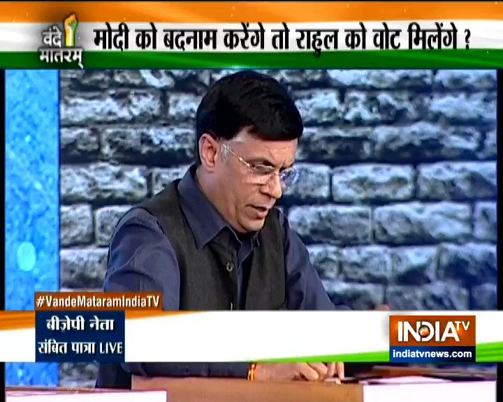 Audience shouted 'Shame' 'Shame' as @INCIndia spokesperson @Pawankhera described MODI as Masood Azhar, Osama bin Laden, Dawood Ibrahim and ISI. Strong repartee from @BJP4India spokesperson @sambitswaraj Patra @indiatvnews #VandeMataramIndiaTV