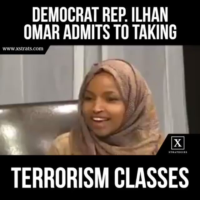 Retweet @Ilhan CAUGHT ON TAPE laughing without empathy on taking terrorism classes.  Did Rep. @IlhanMN forget terrorism killed 2,996 & injured 6,000 Americans on 9-11?  Americans don't like lawmakers laughing about Terrorism! It's a Crime, NOT a JOKE!  Cc: @POTUS @realDonaldTrump