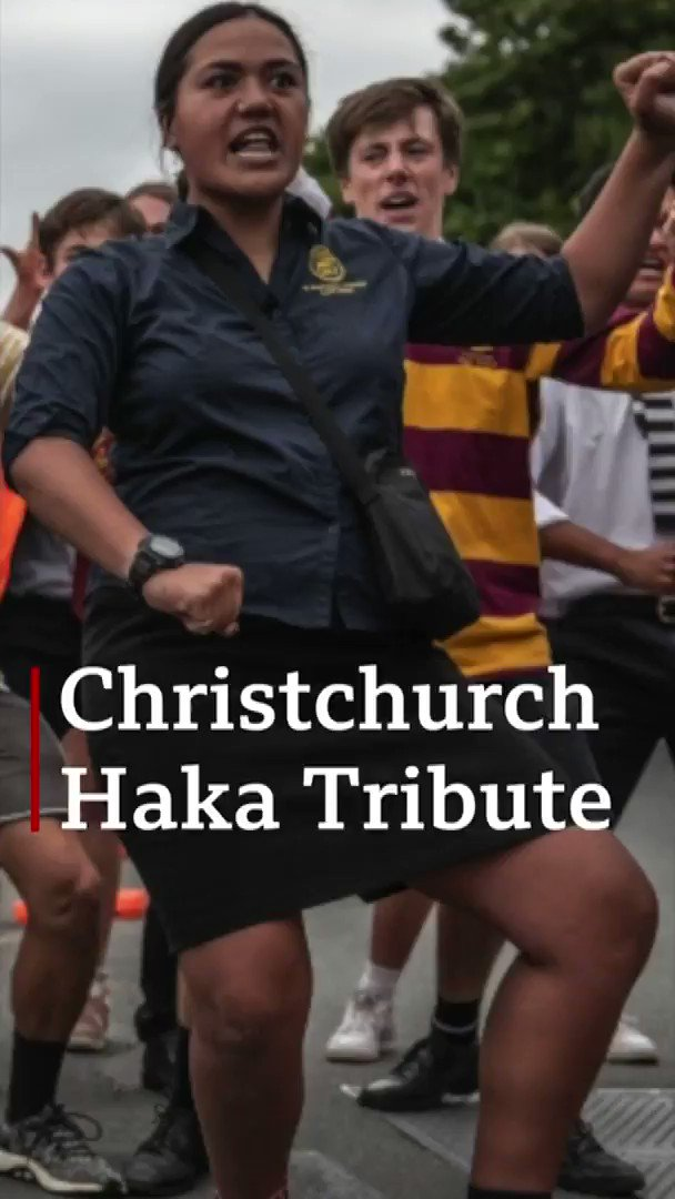Students perform Haka for victims of the New Zealand mosque attacks  [tap to expand] http://bbc.in/2FdujxW