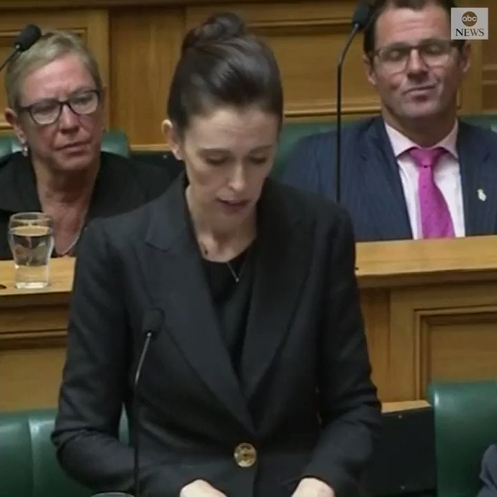 "New Zealand Prime Minister Jacinda Ardern says ""you will never hear me mention"" the name of the alleged Christchurch gunman. ""Speak the names of those who were lost rather than the name of the man who took them."" https://abcn.ws/2TUADUf"