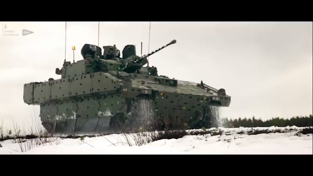 To showcase how DE&S is collaborating with @BritishArmy to deliver Ajax, we sent our photography team to document cold weather training in Sweden. Watch the vehicle being put through its paces to demonstrate its real-world benefits https://des.mod.uk/what-we-do/army-procurement-support/ajax… … #Defence @DefenceHQ