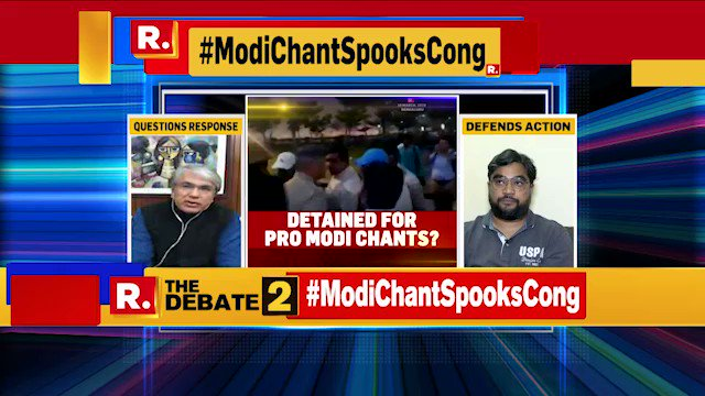 #ModiChantSpooksCong   If they are so worried, they should introspect that why are people chanting 'Modi' at their event: Ratan Sharda, Author & Political Analyst
