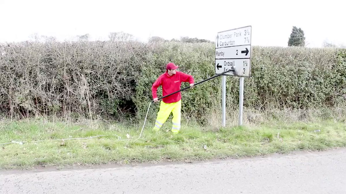 What a hero. Liam cleans signs in his spare time to make the roads a safer place. ❤️