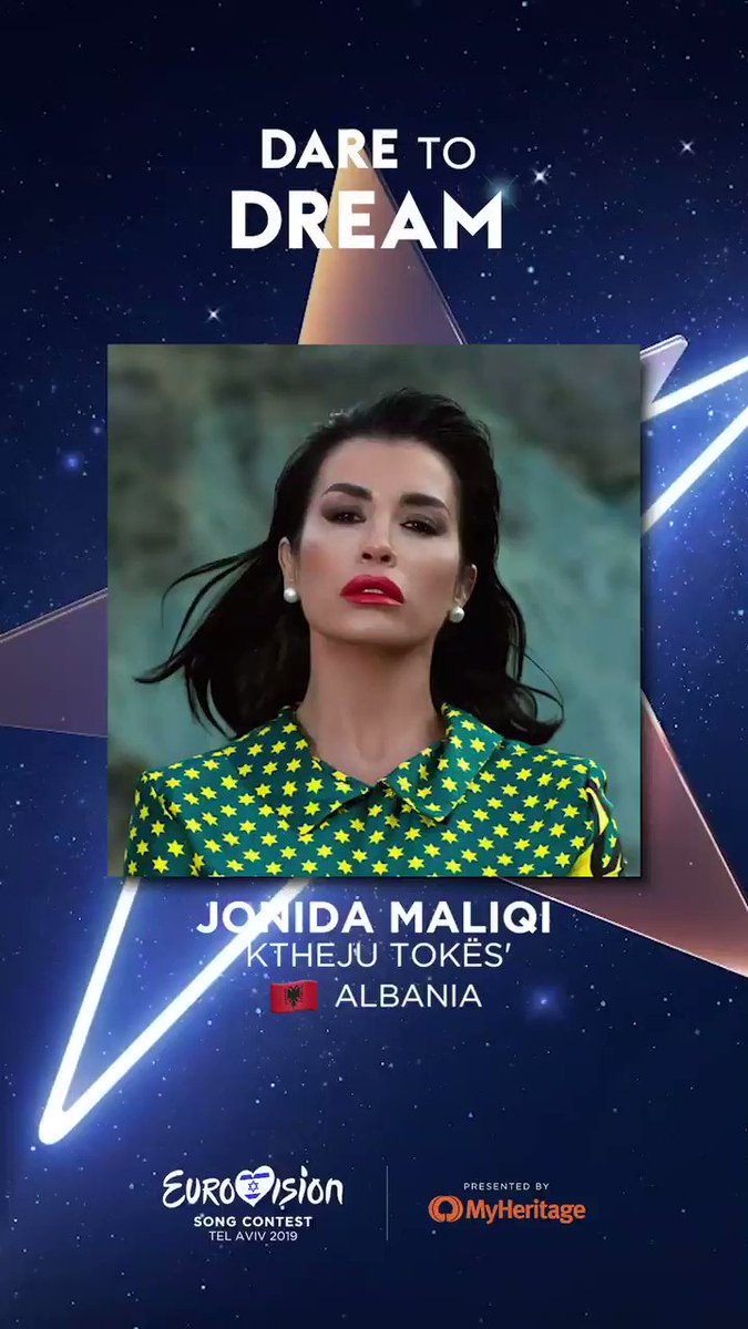 RT @Eurovision: Albania will be sending @jonida_maliqi to Tel Aviv!  🇱🇻 Albania  ⭐ @ESCAlbania 📱 #RTSH https://t.co/sNiLk6iOsE