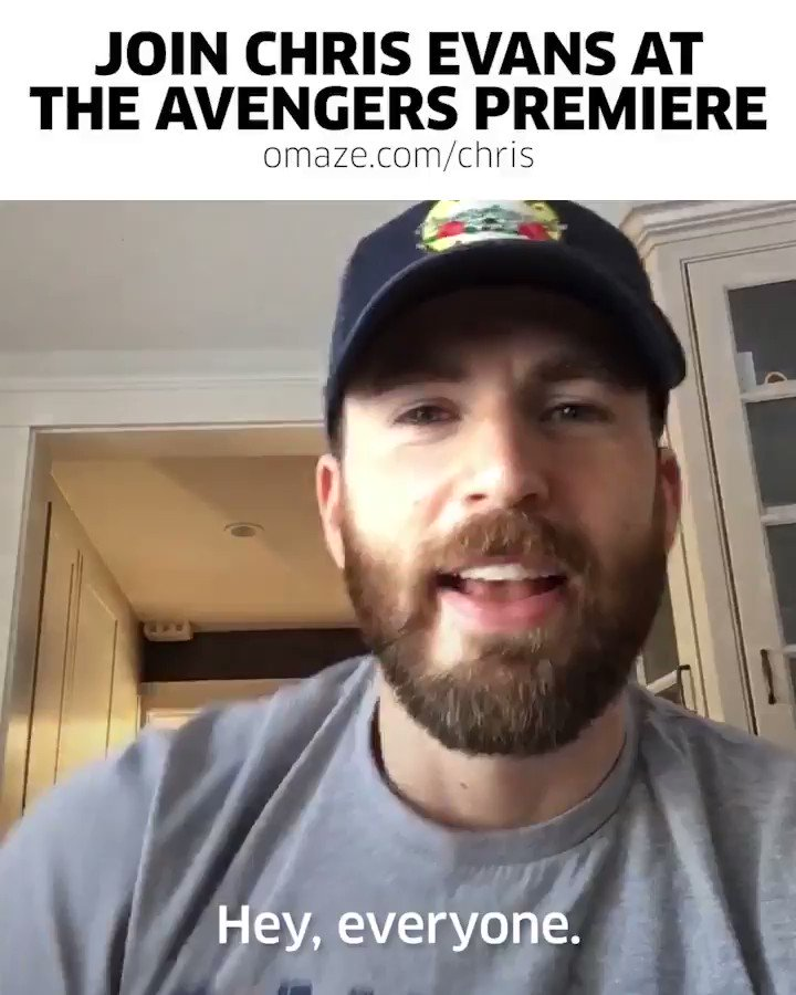 #CaptainAmerica wants YOU to join him at the #AvengersEndgame premiere! #omaze  For your chance to meet @ChrisEvans on the red carpet and see the movie before the rest of the world, show some love to @chris_haven and ENTER: http://bit.ly/2Uwftsx