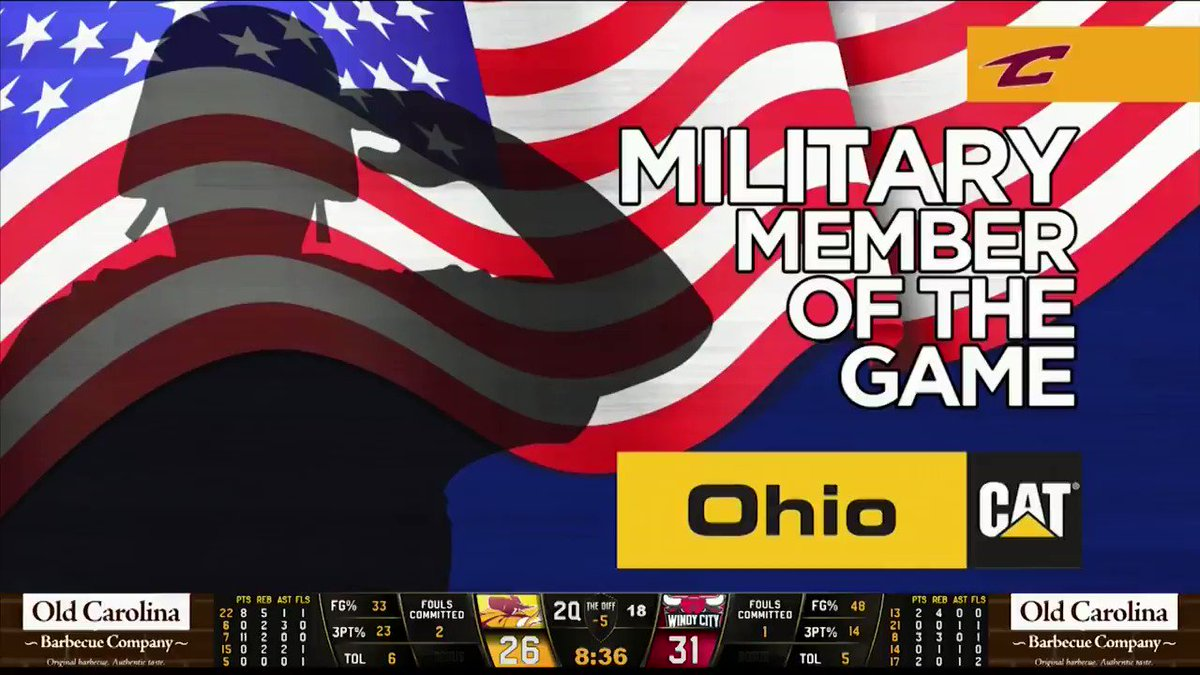 Last month, we invited service members to each of our home games to be recognized, including Sergeant Adam Vettel during our game @TheQArena!  We, along with @OhioCAT1, thank you for your service to our country! 🇺🇲