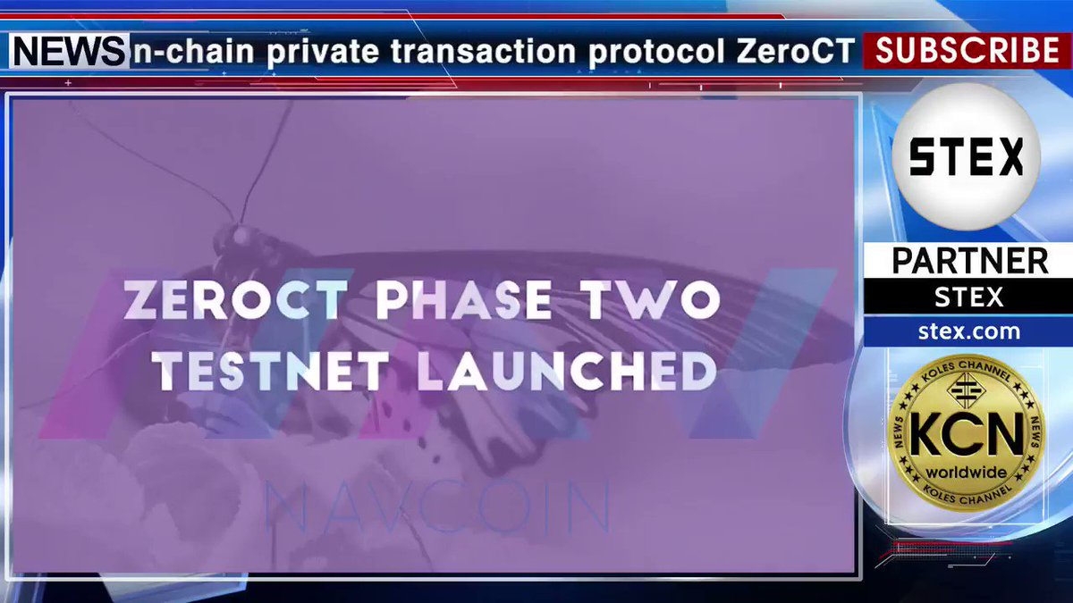 #KCN @NavCoin_Global 's new on-chain private transaction #protocol #ZeroCT has reached another major milestone with the deployment of its second phase to the #testnet. The addition of non-denominational #RSA... @StexExchangeR @Alex_media_AI @github #GitHub @discordapp #Discord