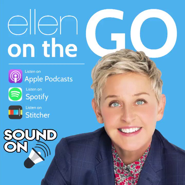 On this episode of our #EllenOnTheGo podcast... https://t.co/EMWGFyUPCR https://t.co/NHzzqe4Q9x