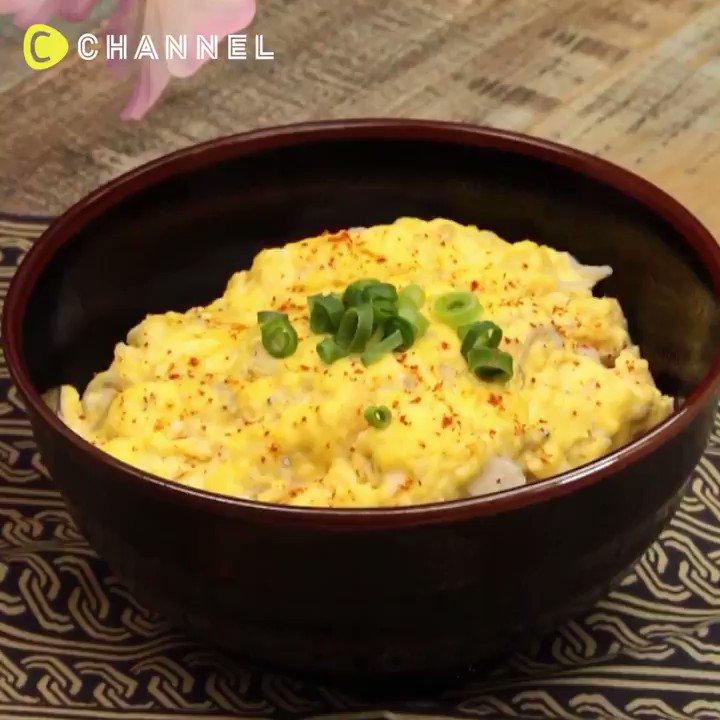 【フライパンオンリー🍳】フワトロしらすのオムライス丼✨✨🙆保存もできるシーチャンネルのアプリで、もっとたくさんの動画を配信中です💗