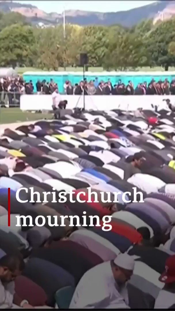 """Thank you for your tears, thank you for your haka, thank you for your warmth and compassion""  Thousands attend ceremonies to mark a week since the Christchurch attacks http://bbc.in/2JybKK9  [tap to expand]"