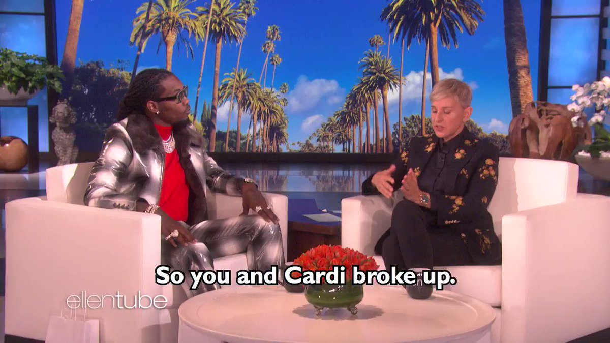 .@OffsetYRN told me about his relationship with @iamCardiB. I'm glad they're okurrr.