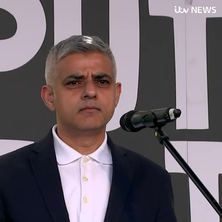 'No matter how you voted in the referendum... we can all agree that Brexit has been a complete mess... it's time to give us, the British people, a final say on Brexit,' London Mayor @SadiqKhan calls for a second Brexit referendum #PutItToThePeople march https://bit.ly/2TrrCOc