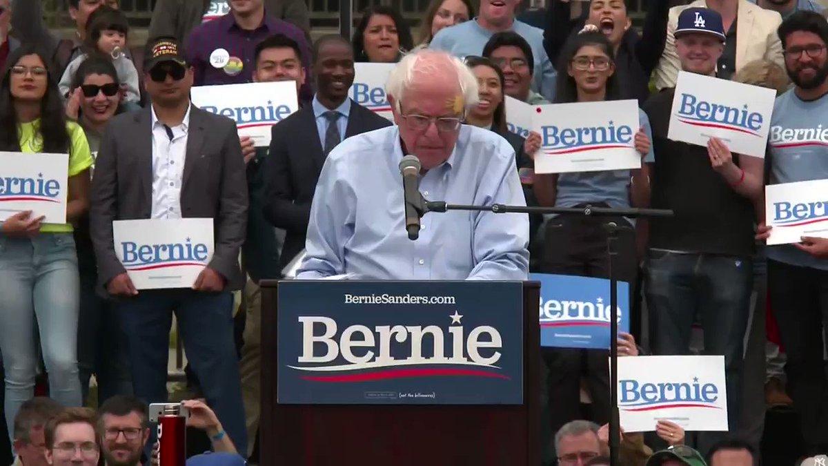 Image for the Tweet beginning: Sen. Bernie Sanders campaigned this