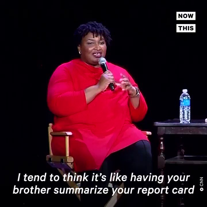 .@StaceyAbrams says Barr's summary of the Mueller report is like 'having your brother summarize your report card to your parents'