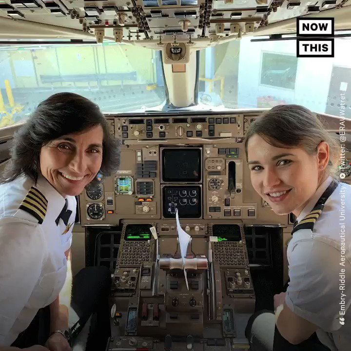 This mother-daughter duo co-piloted a flight across country