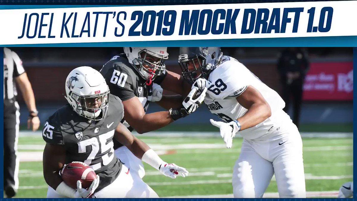 The NFL Draft is less than a month away! Watch as @joelklatt reveals his Mock Draft 1.0 ⬇️