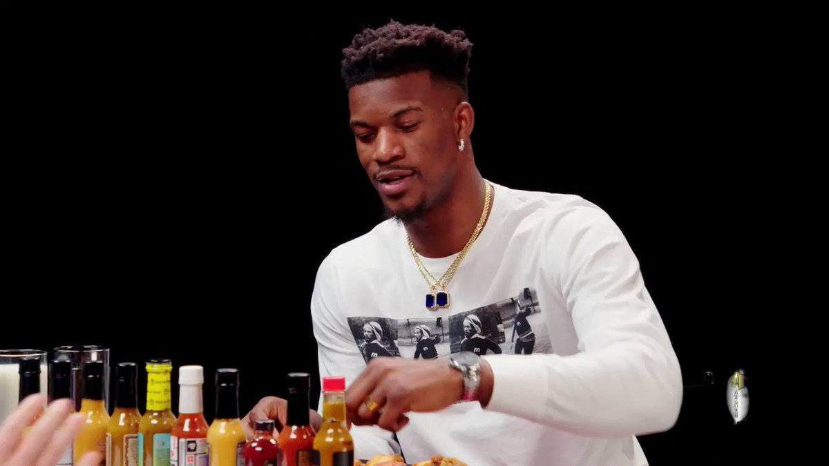 🚨NEW #HotOnes ALERT🚨 @JimmyButler battles through the WINGS OF DEATH on this episode of #HotOnes! Find out if this four-time NBA All Star makes can make it all the way to wing 10! 💀🔥  WATCH NOW 👉 https://youtu.be/-Alsk1lQ_no  Powered by @skittles