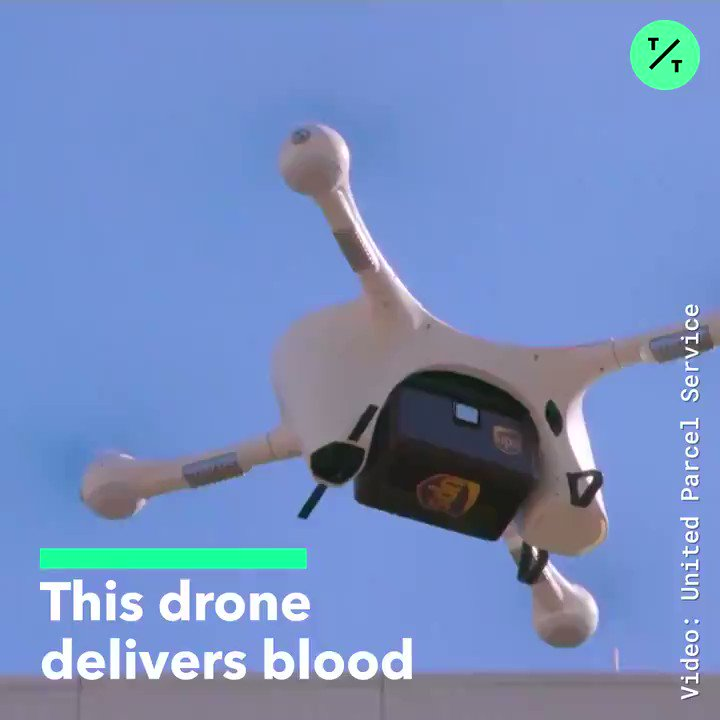 Image for the Tweet beginning: #drones #AI #HealthTech