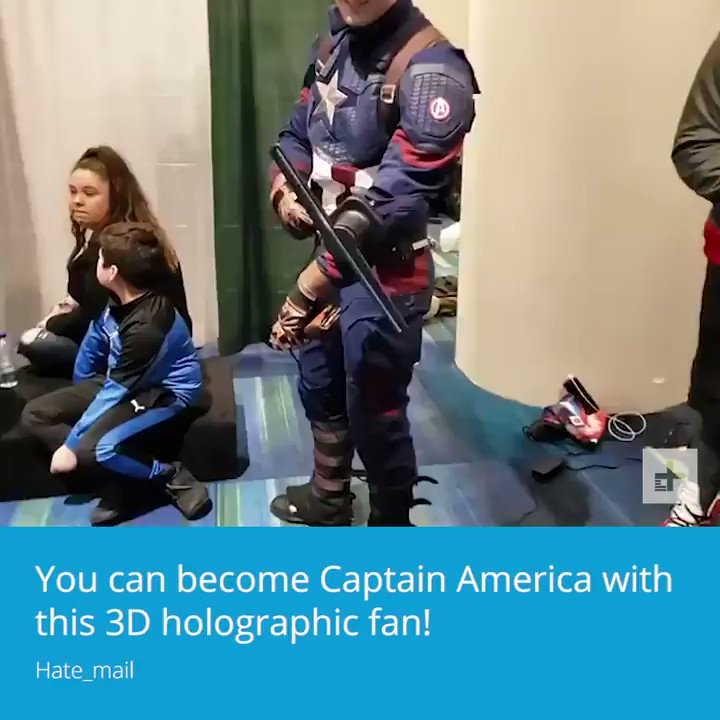 This 3-D holographic lets you become #CaptainAmerica.