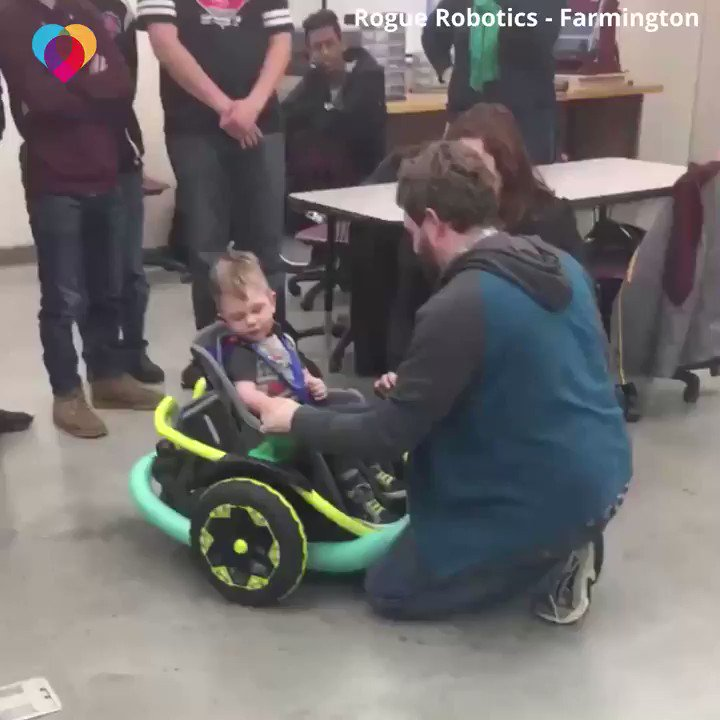 This 2-year-old's family couldn't afford his $20,000 electric wheelchair, and their insurance didn't cover it. So, a high school robotics team built him one for free ❤️ https://cbsn.ws/2TNEMp6
