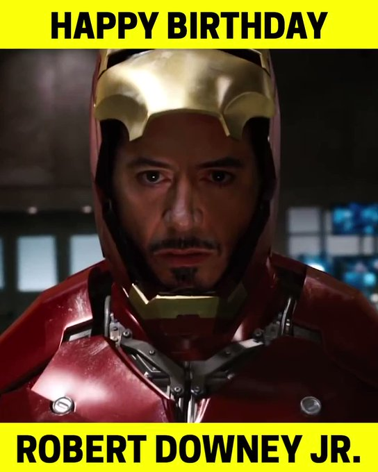 Happy Birthday, Tony....I mean Robert Downey Jr.