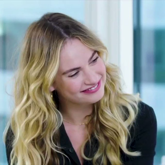 Mamma Mia! Happy birthday, Lily James!  Watch her interview here: