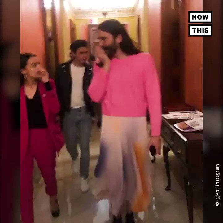 .@AOC took the cast of @QueerEye on a whirlwind tour of Capitol Hill