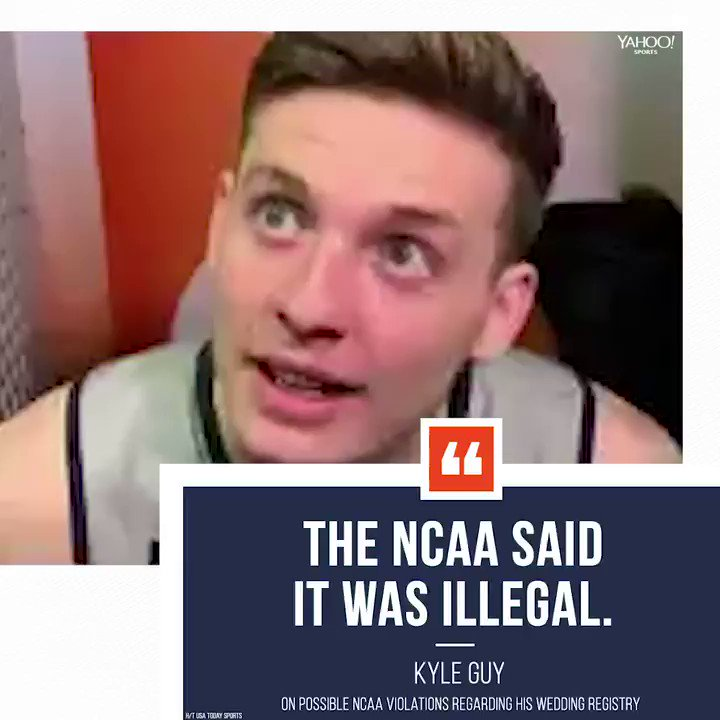 Virginia's Kyle Guy really had to take down his wedding registry because of the NCAA 🤦♂️  ➡️ https://yhoo.it/2YReSUX