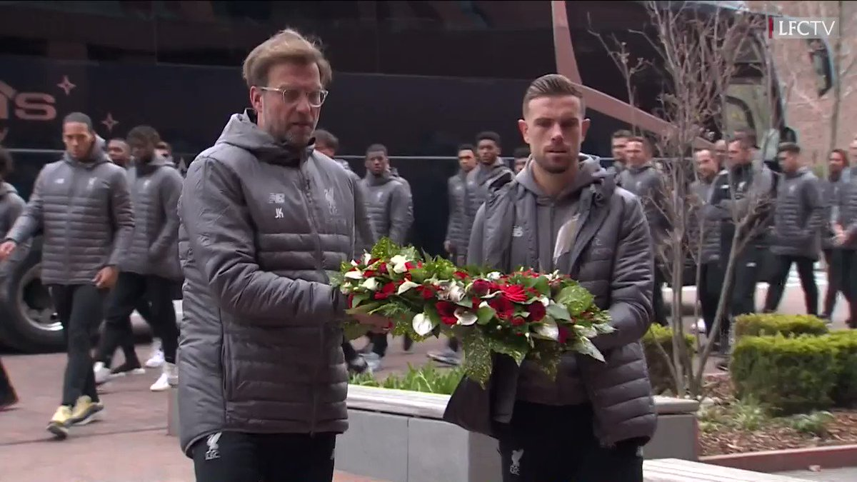 Earlier today, the Liverpool first-team, Womens and Academy squads paid their respects to the 96 children, women and men who died at Hillsborough by visiting the memorial at Anfield.