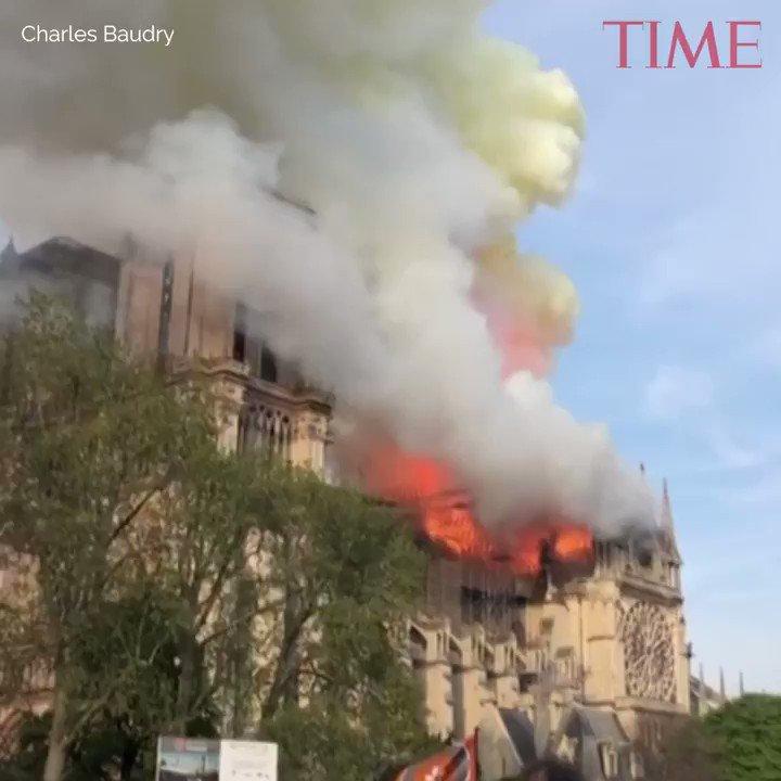 Huge fire devastates Paris' famous Notre Dame cathedral https://t.co/Lx3l4Exzl2 https://t.co/TUVTrrVubN
