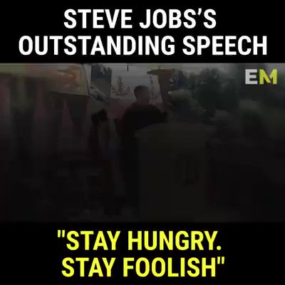 #ThursdayThoughts 👂Listen carefully to Steve Job's outstand speech