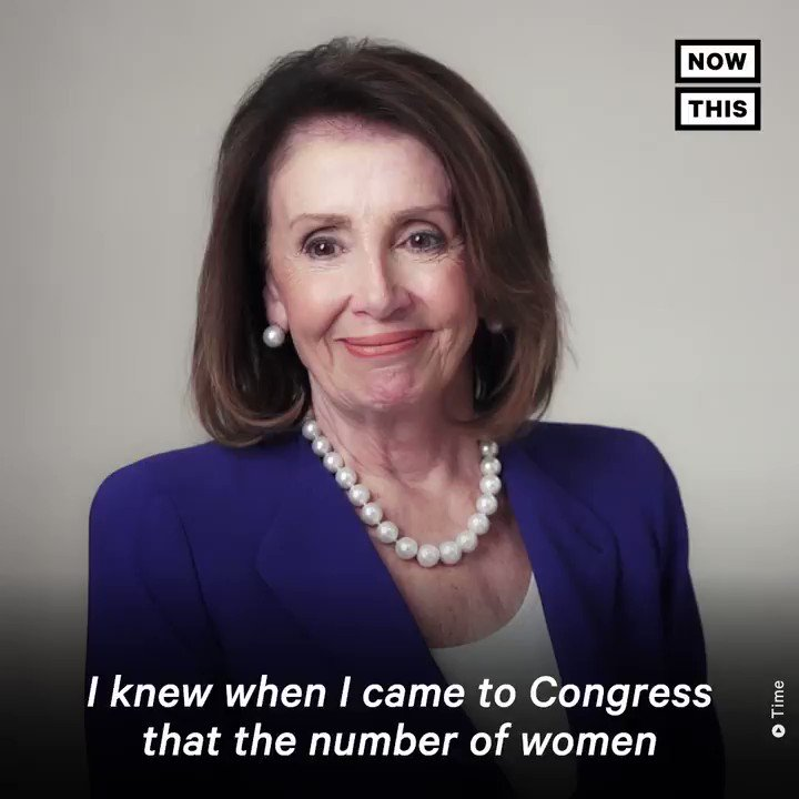 'There's no issue that a woman couldn't be in control of.' — @SpeakerPelosi reflected on her place in history and the future after being named to the Time 100