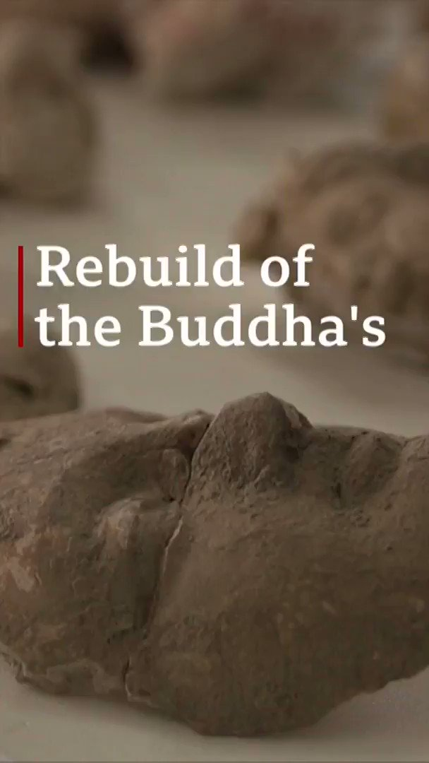 """These artefacts don't just belong to us. They belong to the entire world""  Once destroyed by the Taliban, these Buddha statues are being put back together by a team of experts  [tap to expand] http://bbc.in/2XodM1C"