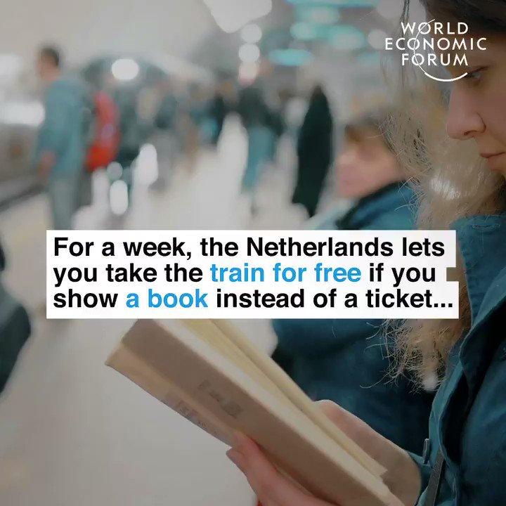 The Netherlands: 🇳🇱  Take the train for free if you show a book.
