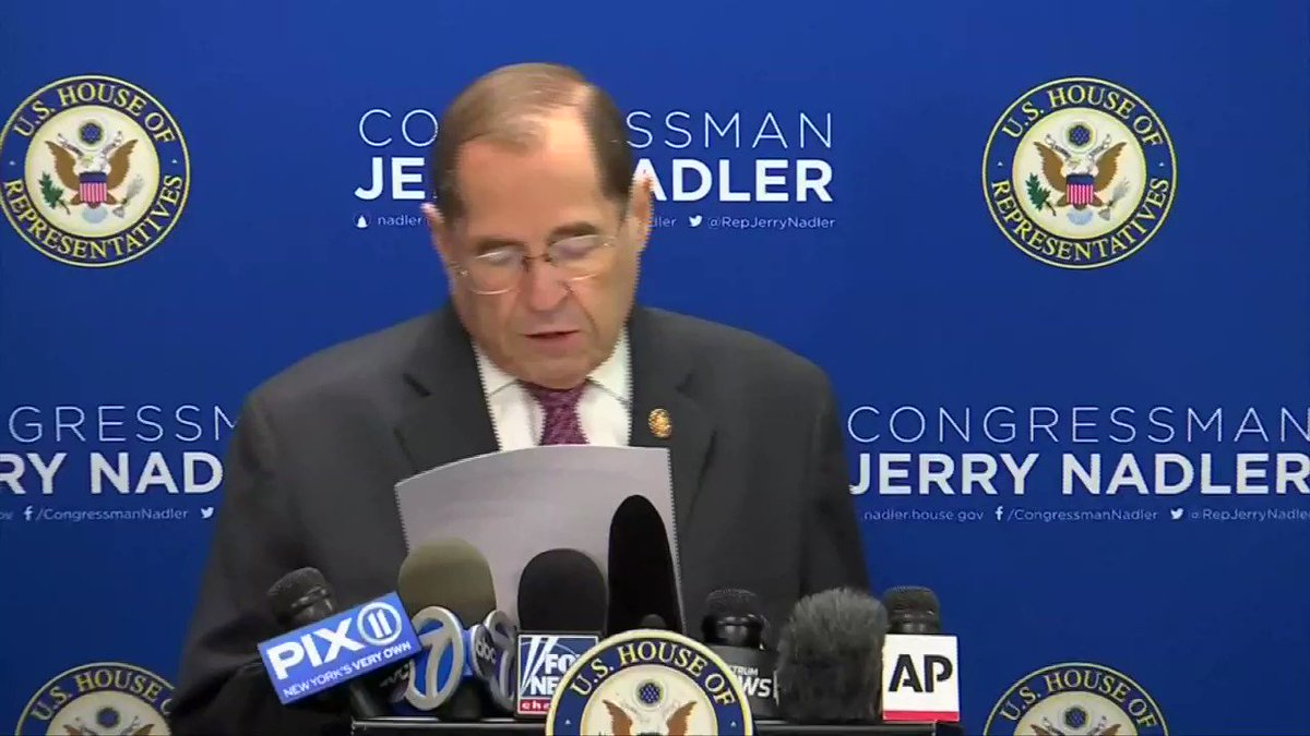 'The attorney general's decision to withhold the full report from Congress is regrettable, but no longer surprising': Representative Nadler responds to Barr's release of the redacted Mueller report. Follow our coverage: https://reut.rs/2XhrRxM