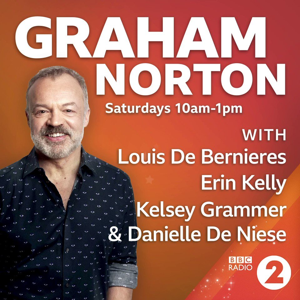 This morning after 10am @grahnort has an egg-xtra special show lined up!  He'll be joined by... ⭐️ Louis De Bernieres ⭐️ @mserinkelly ⭐️ @kelseygrammer ⭐️ @Danielledeniese ⭐️  Listen on @bbcsounds 🔊 https://bbc.in/2XsnLTv