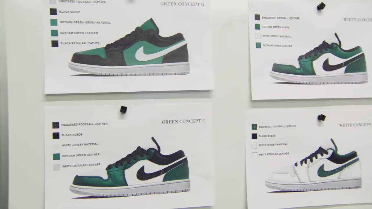 e8844f57c2f go behind the scenes of and ceeze creating custom air jordan 1 low shoes  inspired by the new jets uniforms don
