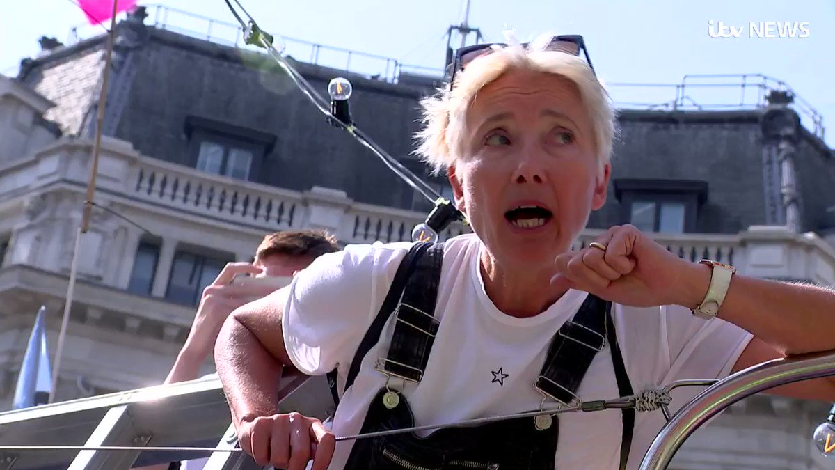 Does climate campaigner Dame Emma Thompson travel economy class, asks @richpallotitv... 'No, I bloody don't!' https://bit.ly/2Xotl9p