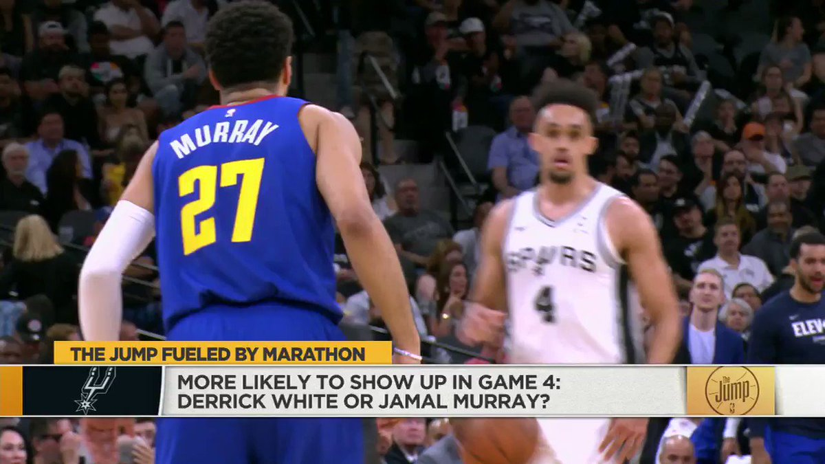 If you didn't know @Dwhite921 before last night, you know him now. The former G-Leaguer has been stepping up huge for the Spurs all season, and was a rock star last night in their win over the Nuggets. Can the Nuggets answer back? @ScottiePippen says that's on Jamal Murray.