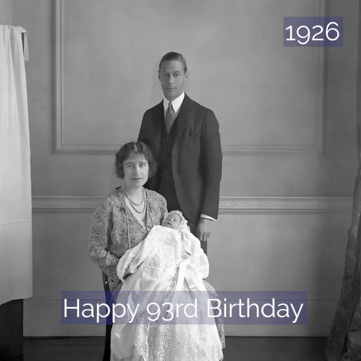 Happy 93rd birthday to Her Majesty The Queen!   Our video includes a photograph from each decade of The Queen's life, from an image of her as a baby in 1926, to her visit to King's College last month.    #QueensBirthday #HappyBirthdayHerMajesty