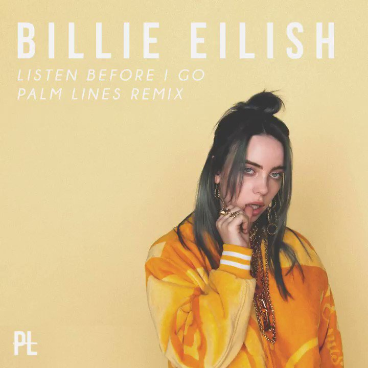 """#Happy420! Just dropped my chill-vibey remix of @BillieEilish's """"listen before i go."""" Download it for free: http://youtu.be/Os-x0QJ4x-s  #BillieEilish #ListenBeforeIGo #Remix #PALMLINES #Coachella"""