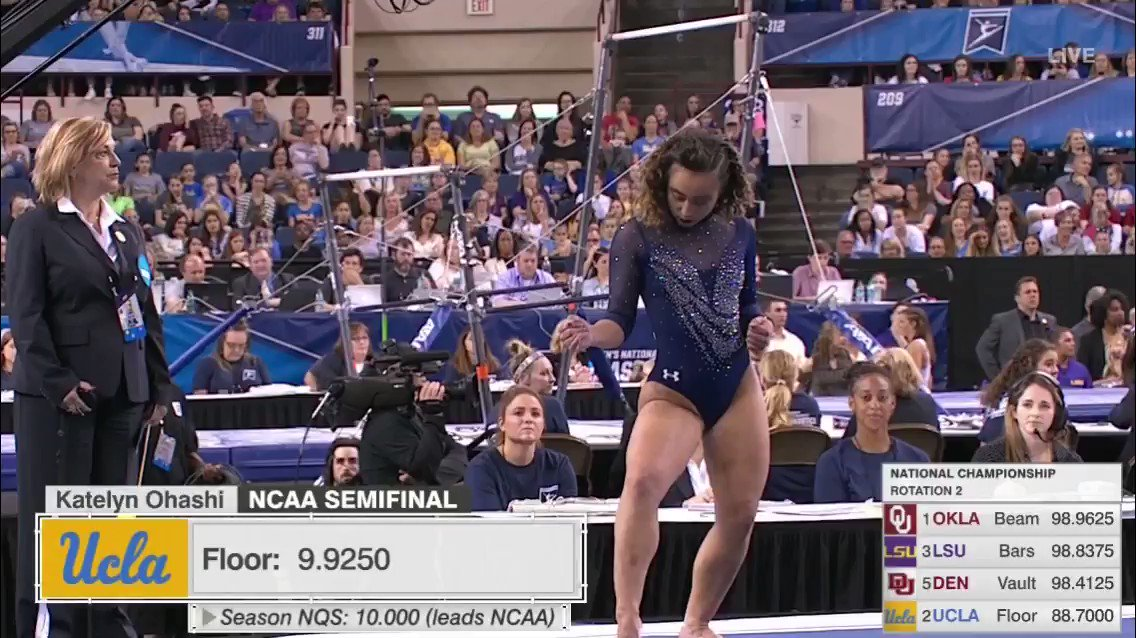 Katelyn Ohashi absolutely crushed the final routine of her collegiate career 👏