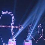 中国で行われたドローンショー・ぶつからずに高度な技術だ!