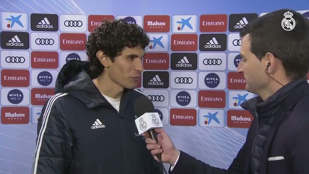 🎙💬 ¡JesusVallejo habló en #RMTV sobre la victoria de esta tarde en el Bernabéu! Así se siente el central madridista... #HalaMadrid