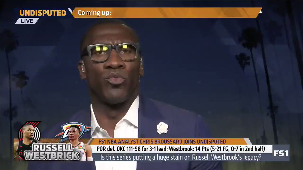 """""""Kevin Durant tried to tell y'all. ... He would have rather taken the backlash and the criticism for joining a Golden State team than to stay there and try to figure out how can I win a title with [Russell Westbrook]?"""" — @ShannonSharpe"""