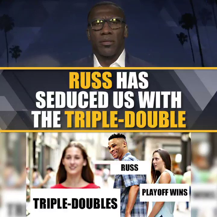 Russell is that good-looking girl that we overlook all the other flaws — she has a terrible personality, she's not really nice to people and she has a bad attitude.  via @ShannonSharpe